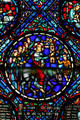 Stained glass of Palm Sunday in Westminster Presbyterian Church. Buffalo, NY.