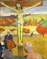 Yellow Christ painting by Paul Gauguin at Albright-Knox Art Gallery. Buffalo, NY.
