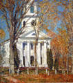 Church at Old Lyme, Connecticut painting by Frederick Childe Hassam at Albright-Knox Art Gallery. Buffalo, NY.