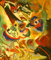 Fragment 2 for Composition VII painting by Wassily Kandinsky at Albright-Knox Art Gallery. Buffalo, NY.