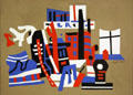 New York Waterfront painting by Stuart Davis at Albright-Knox Art Gallery. Buffalo, NY.