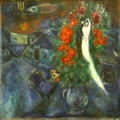 Flying Fish painting by Marc Chagall at Albright-Knox Art Gallery. Buffalo, NY.