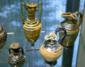 Egyptian glass pitchers & bottles at Corning Museum of Glass. Corning, NY.