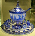 French Baccarat punch bowl displayed at Paris World's Fair of 1867 at Corning Museum of Glass. Corning, NY