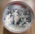 English glass cameo plaque with Moorish Bathers carved by George Woodall for Thomas Webb & Sons of Amblecote at Corning Museum of Glass. Corning, NY.