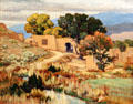 New Mexico Afternoon painting by Carlos Vierra at Rockwell Museum of Art. Corning, NY.