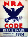 NRA Code Retail Trade poster from 1934 in Presidential Museum. Hyde Park, NY