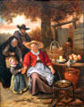 Pancake Woman painting by Jan Steen at Memorial Art Gallery. Rochester, NY.