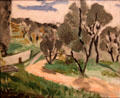 Landscape painting by Henri Matisse at Memorial Art Gallery. Rochester, NY.