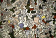 Section of painting Nunc Stans by Jean Dubuffet in Guggenheim Museum. New York, NY