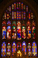 Stained glass windows of Christ & Evangelists + Peter & Paul in Trinity Church. New York, NY.