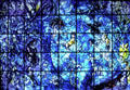 Marc Chagall stained glass Peace Window in United Nations. New York, NY.