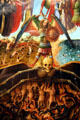 Detail of Last Judgment tempera painting by Jan van Eyck & workshop at Metropolitan Museum of Art. New York, NY.
