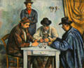 The Card players painting by Paul Cézanne at Metropolitan Museum of Art. New York, NY.