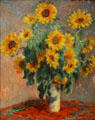 Bouquet of Sunflowers painting by Claude Monet at Metropolitan Museum of Art. New York, NY.