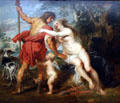 Venus & Adonis painting by Peter Paul Rubens at Metropolitan Museum of Art. New York, NY.