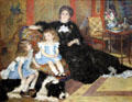 Mme. George Charpentier & Her Children painting by Pierre-Auguste Renoir at Metropolitan Museum of Art. New York, NY.