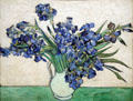Irises by Vincent van Gogh at Metropolitan Museum of Art. New York, NY.