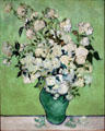 Vase of Roses by Vincent van Gogh at Metropolitan Museum of Art. New York, NY.