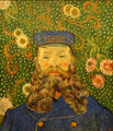 Portrait of Joseph Roulin painting by Vincent van Gogh at MoMA. New York, NY.