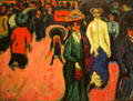 Street, Dresden painting by Ernst Ludwig Kirchner at MoMA. New York, NY.
