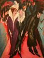 Street, Berlin painting by Ernst Ludwig Kirchner at MoMA. New York, NY.
