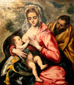 Holy Family painting by El Greco at Hispanic Society of America Museum. New York, NY.