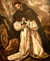 St. Dominic painting by El Greco workshop at Hispanic Society of America Museum. New York, NY.