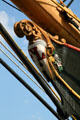 Figurehead of barque Peking at South Street Seaport Museum. New York, NY.