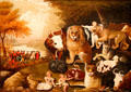 Peaceable Kingdom painting by Edward Hicks at Brooklyn Museum. Brooklyn, NY.