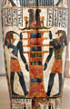 Detail of Egyptian cartonnage of Nespanetjerenpare possibly from Thebes at Brooklyn Museum. Brooklyn, NY.