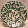 Ceramic plate from Iran at Brooklyn Museum. Brooklyn, NY.