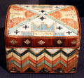 Micmac porcupine quill box from Northeastern USA at Brooklyn Museum. Brooklyn, NY