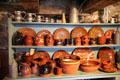 New England redware pottery at Conference House. Staten Island, NY.