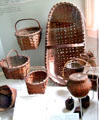 Collection of Staten Island baskets at Historic Richmond Town Museum. Staten Island, NY.