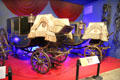State coach by M. Staubwasser of Munich Germany & Chariot by Binder Aine of Paris France at carriage collection of Long Island Museum. Stony Brook, NY.