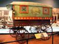 Gypsy wagon from New England at carriage collection of Long Island Museum. Stony Brook, NY.