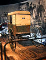 Mail wagon by Hanford Wagon Works of Unidilla, NY at carriage collection of Long Island Museum. Stony Brook, NY.