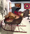 Sleigh display at carriage collection of Long Island Museum. Stony Brook, NY.