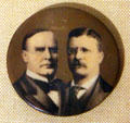 William McKinley for President & Roosevelt for VP campaign buttons at Old Orchard Museum at Sagamore Hill NHS. Cove Neck, NY.