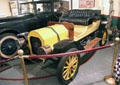 REO automobile used in races by William K. Vanderbilt II on turntable at Vanderbilt Mansion garage. Centerport, NY.