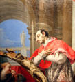 St. Charles Borromeo painting by Tiepolo of Itay at Cincinnati Art Museum. Cincinnati, OH.