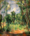 The Glade landscape painting by Paul Cézanne at Toledo Museum of Art. Toledo, OH.