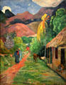 Street in Tahiti painting by Paul Gauguin at Toledo Museum of Art. Toledo, OH.