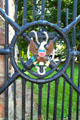 Iron gate given by the White House with American eagle on anchor with cross canons at Hayes Presidential Center. Fremont, OH.