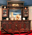 Sideboard with Rutherford B. Hayes Presidential China at Hayes Presidential Center. Fremont, OH.