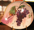 President Rutherford B. Hayes China plate with grapes painting by Haviland at Hayes Presidential Center. Fremont, OH.