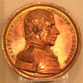 Major General William Henry Harrison medal by F. Furst. Fremont, OH.