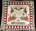 Benjamin Harrison & Levi P. Morton Protect Home Industry printed campaign handkerchief. Fremont, OH