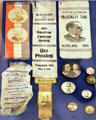 William McKinley campaign ribbons & buttons. Fremont, OH.